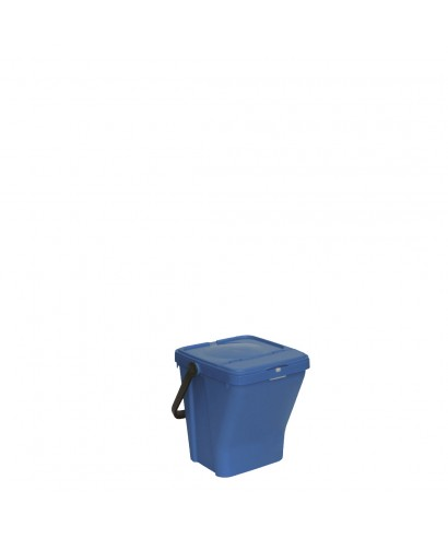 Bidone con coperchio blu Ecotop lt.35 - SSS