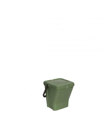 Bidone con coperchio verde Ecotop lt.35 - SSS