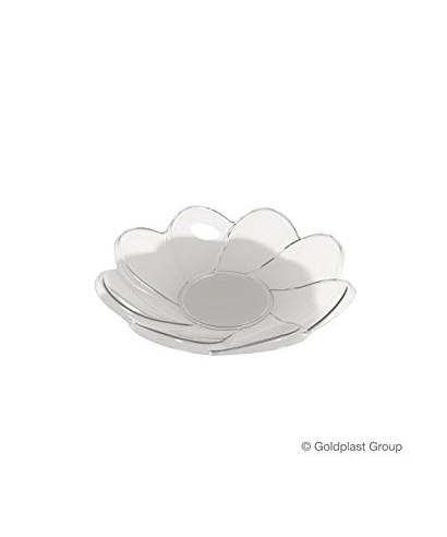 Piattino Daisy Trasparente pz.25 - Gold Plast