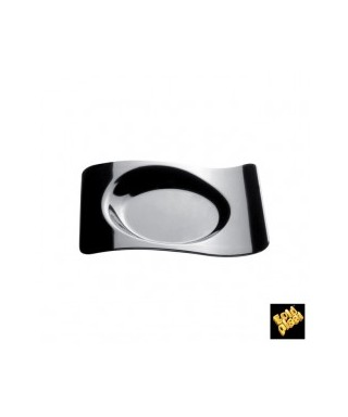 Piattino Forma Nero pz.50 - Gold Plast