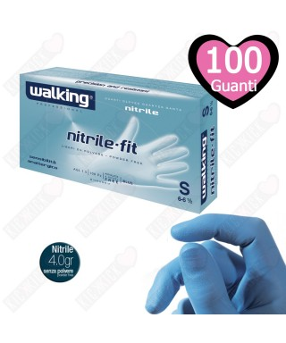 Guanti Nitrile Fit Mis.M Pz.100 - Walking