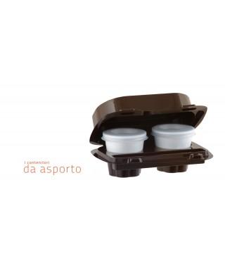 Box Caffè Asporto, 2 Scomparti, 55 Pezzi - kaffebox