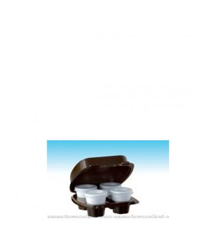 Box Caffè Asporto 4 scomparti nero pz.60 - kaffebox