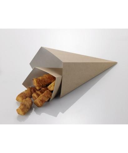 Cono fritti Avana/bianco 7x7x17,5 pz.50 - Leone