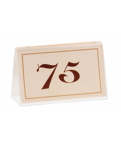 Numeri da tavolo in carta Avorio 26/50 - Leone