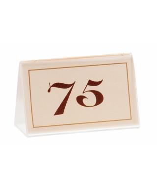 Numeri da tavolo in carta Avorio 76/100 - Leone