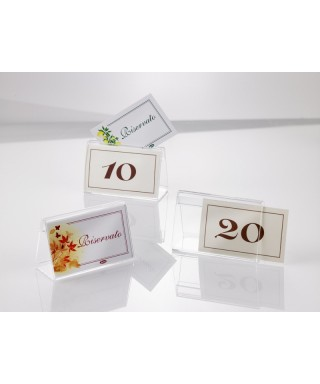 Supporto in plexiglass per numeri da tavolo - Leone