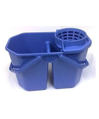 Secchio doppia vasca con strizzino Easy blu