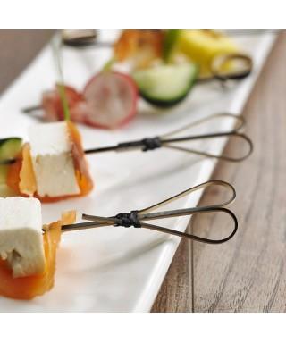 Spiedi Cuore cm.15 pz.100x5 - Crown Chef