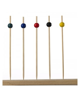 Spiedini DecorBall 15Cm. Bamboo Pz.100 - Crown Chef