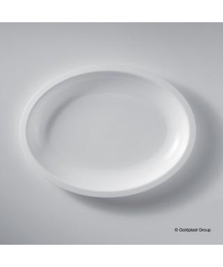 Piatto ovale Bianco pz.50 - Gold Plast