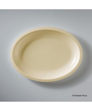 Piatto ovale Champagne pz.50 - Gold Plast