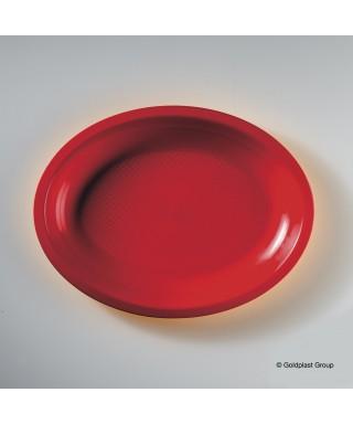 Piatto ovale Rosso China pz.50 - Gold Plast