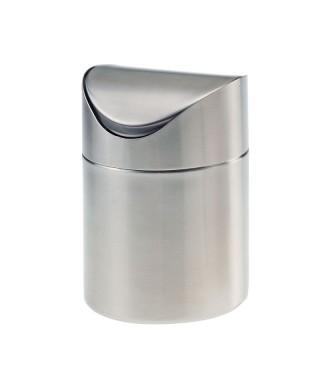 Porta rifiuti da tavolo in acciaio - Leone