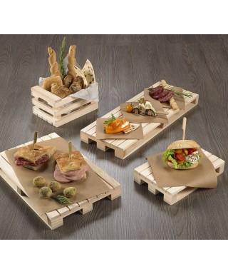 Bancalino in legno 40x15,2x3,5 pz.singolo - Leone