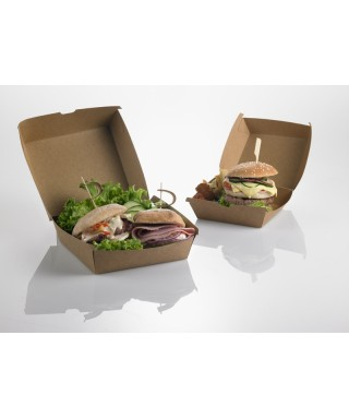 Hamburger Box Avana 16x16x9 pz.50 - leone