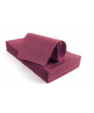 Tovaglie in carta 100x100 goffrate bordeaux - 25 pz