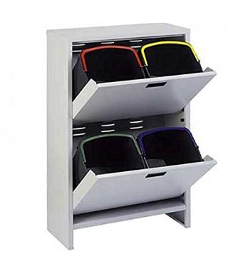 Mobiletto ventilato per raccolta differenziata + 4 secchi da lt.20