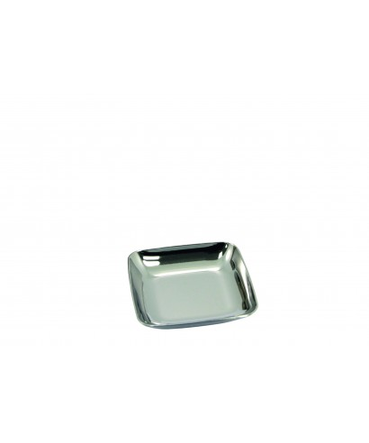 Piattino quadrato Silver pz.50 - Dampe