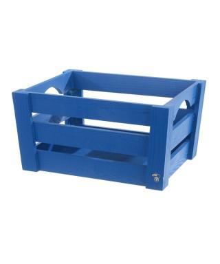 Mini cassetta in legno Blu pz.singolo