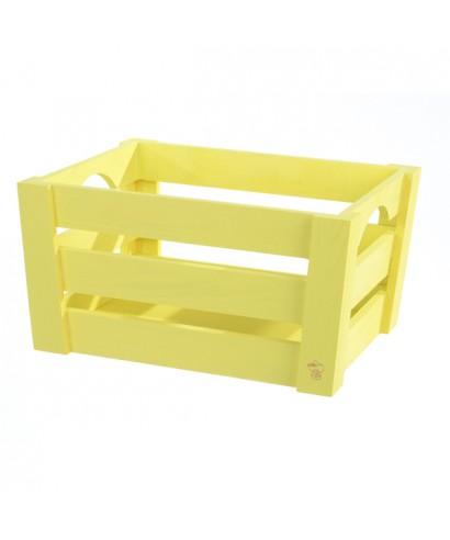 Mini cassetta in legno Gialla pz.singolo