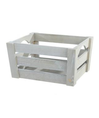 Mini cassetta in legno Grigia pz.singolo