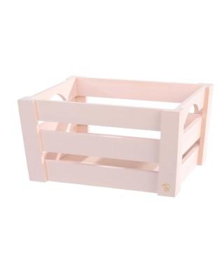 Mini cassetta in legno Rosa pz.singolo