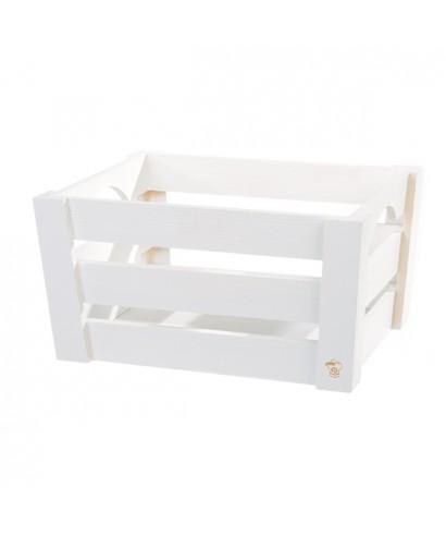 Mini cassetta in legno Bianca pz.singolo