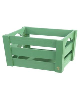 Mini cassetta in legno Verde pz.singolo