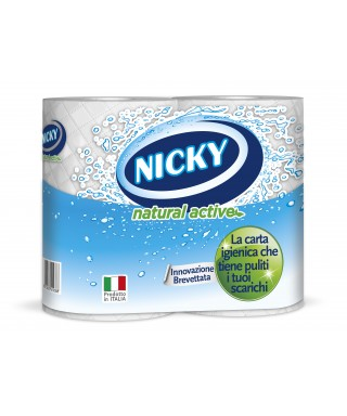 Carta igienica 4 rtx7 conf. - Nicky Natural Active
