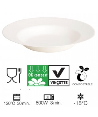 Piatti Fondina Compostabili XL D.23 Pz.50 - Crown chef