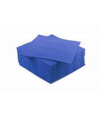 Tovaglioli 38x38 Punta Punta Blu Royal 15x40 Pz - IdealParty