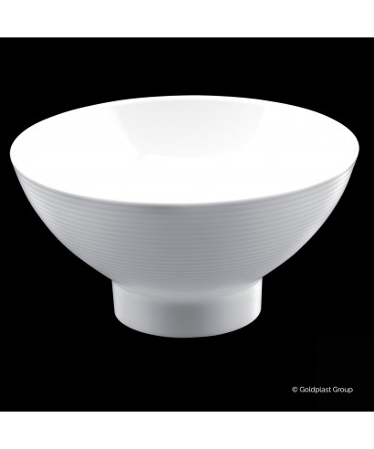 Coppetta Medium Bowl Bianca pz.6 - Gold plast