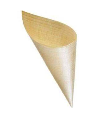 Cono in legno 6,5 diam, h 16,5 Crown Chef 50 pezzi