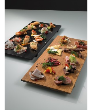Vassoi Sushi in legno, 2 pezzi