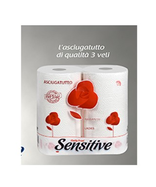 Asciugatutto Rosa Ladies  decorato cucina 3V 2x10 Conf. - Sensitive