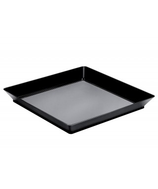 Vassoio Medium Plate nero pz.12 - Gold Plast