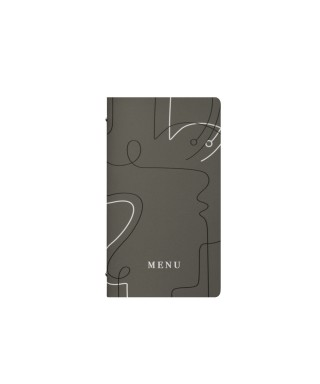 Porta menu 2/2 linee curve tortora