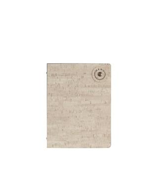Porta menù A4 in sughero bianco mark manu