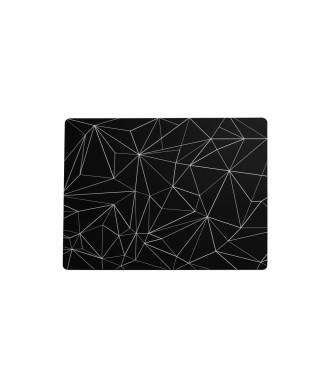 Tovaglietta linee triangolari nera 31x41 cm 6 pezzi