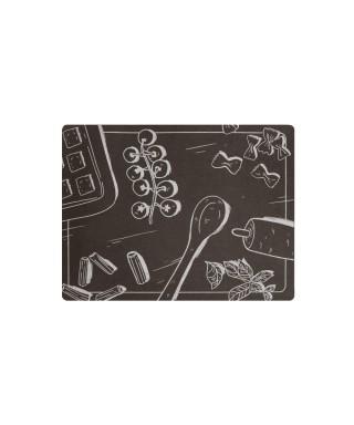 Tovaglietta marrone grafica pasta 31x41 cm 6 pezzi