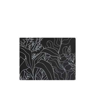 Tovaglietta nero grafica tropicale 31x41 cm 6 pezzi