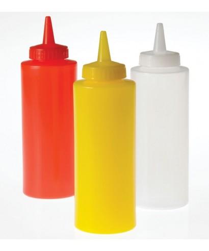 Squeeze Bottle giallo con tappo 340 ml 6 pz