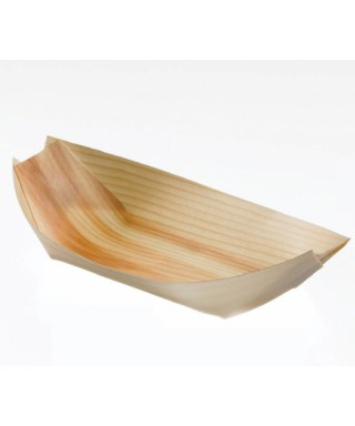 Piroga in legno grande cm 15x7,5x2 50 pz - Leone