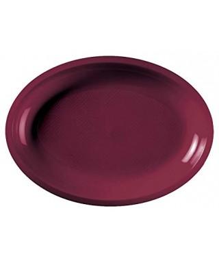 Piatto ovale bordeaux 50 pezzi