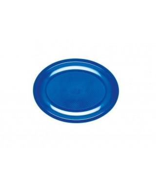 Piatto ovale grande blu in PP 25 pezzi
