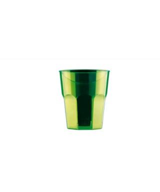 Bicchieri 270 cc linea disco verde fluo 20 pezzi