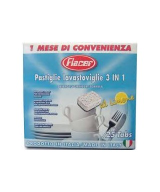 Pastiglie lavastoviglie 3 in 1 25 pastiglie